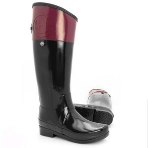HUNTER Women's Regent Carlyle Tall Rain Boots Very
